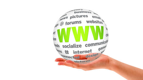 World Wide Web Word Sphere Stock Video Footage
