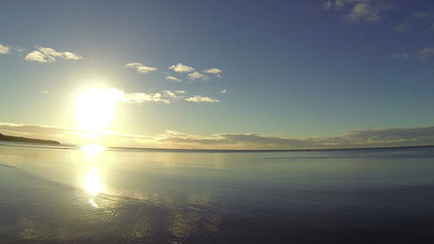 The sun above the Bay Stock Video Footage