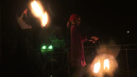 Fire show Stock Video Footage
