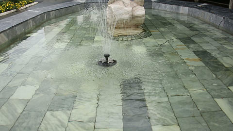 Fountain in the form of fish Stock Video Footage