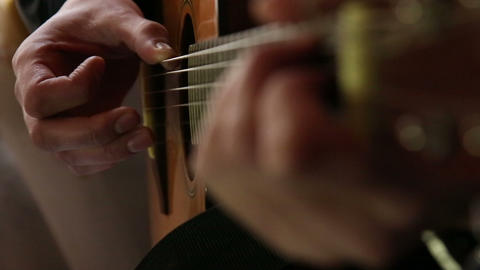 Playing guitar Stock Video Footage