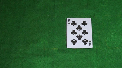 Cards on the green cloth Stock Video Footage