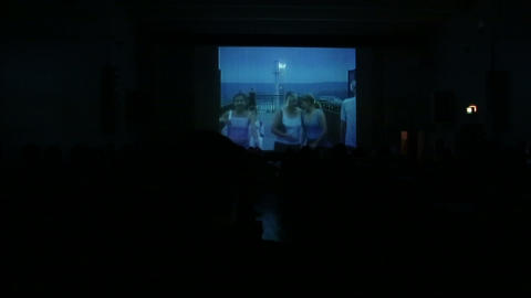 Cinema hall with the audience Footage