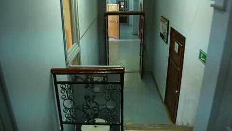 Corridor with doors Stock Video Footage