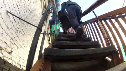 Steps of the stairs Footage