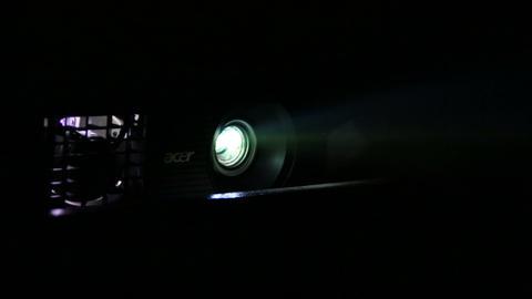 Beam projectors Stock Video Footage