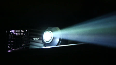 Beam projectors Stock Video Footage