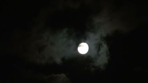 The moon and the clouds Stock Video Footage