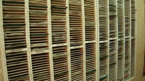 Shelf with DVD Footage