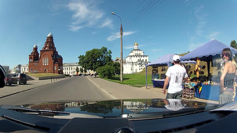 Orthodox churches in Vladimir Stock Video Footage
