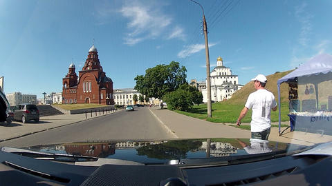 Orthodox churches in Vladimir Stock Video Footage