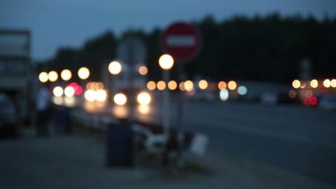 Night motorway Footage