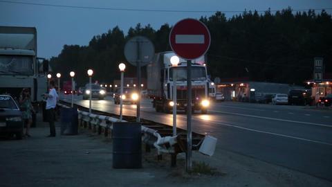 Night motorway Stock Video Footage