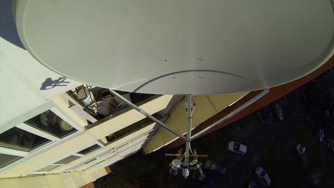 Mobile-satellite aerial, antenna, dish Footage