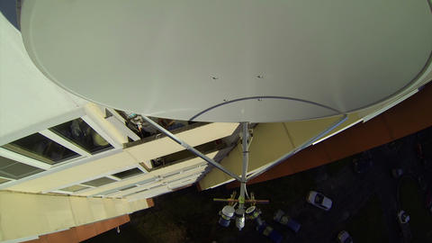 Mobile-satellite aerial, antenna, dish Stock Video Footage