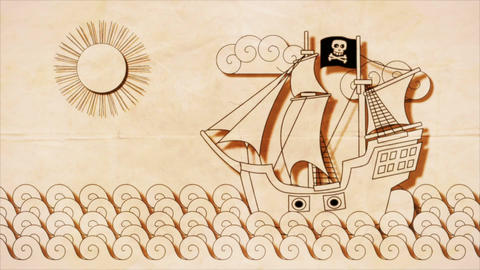 Pirate Ship Stock Video Footage