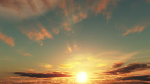 Sunrise Timelapse stock footage