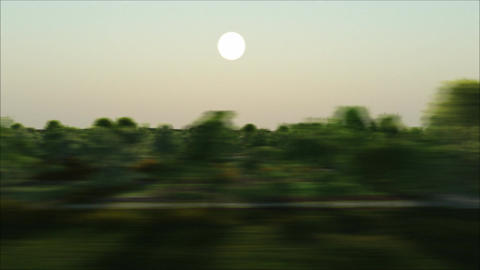 View out of a train Stock Video Footage
