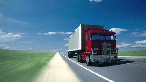 Truck on the road 2 (loop) Animation