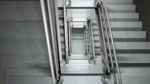Looking down a staircase Stock Video Footage
