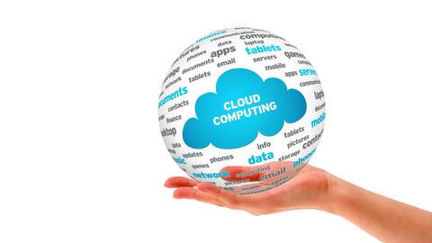 Cloud Computing Word Sphere Stock Video Footage