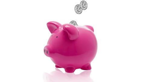 Piggy Bank Stock Video Footage