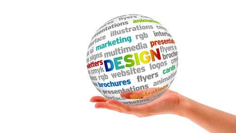 Design Word Sphere Stock Video Footage