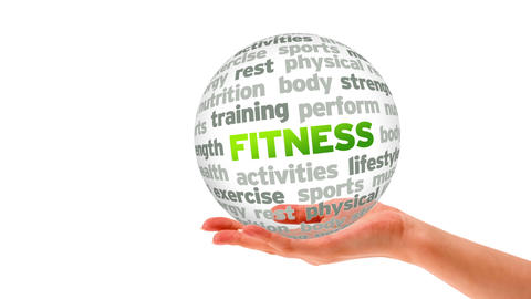Fitness Word Sphere Stock Video Footage