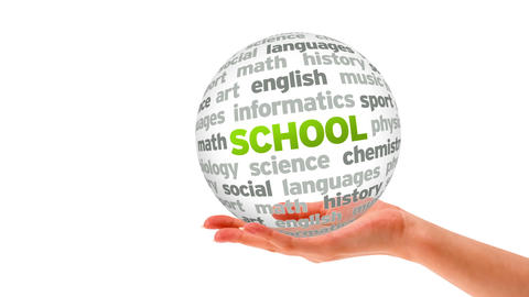 School word sphere Stock Video Footage