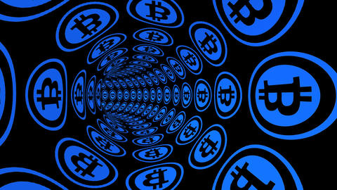 Through Bitcoin electronic money channel tunnel Animation