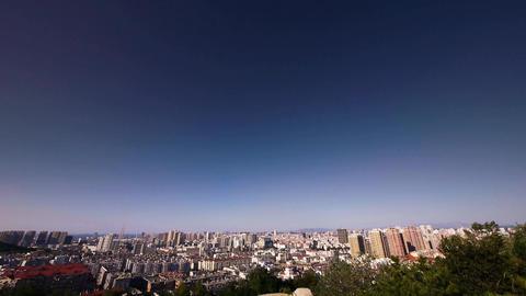 Overlooking panoramic urban Stock Video Footage