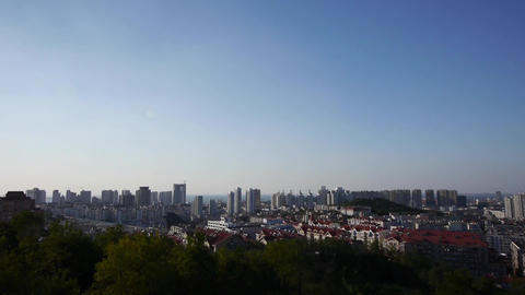 Overlooking panoramic china urban Stock Video Footage