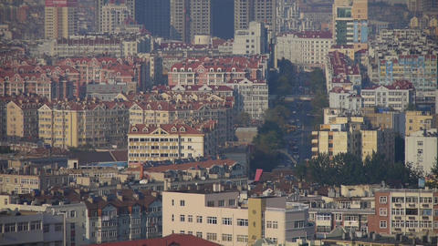 Crowded china city building Stock Video Footage