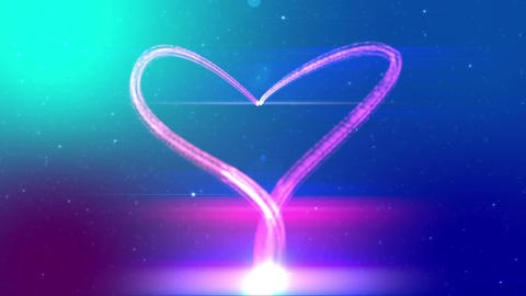 Heart from fireworks Animation