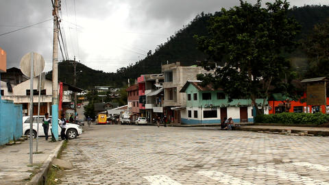 Main road of Mindo Stock Video Footage