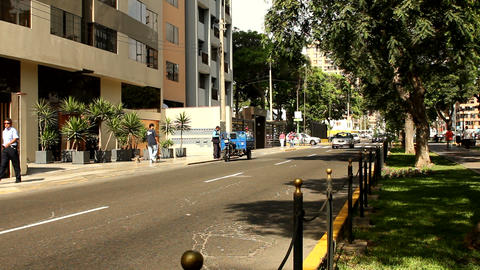 Miraflores in Lima Stock Video Footage