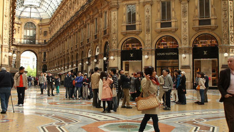 Galleria Vittorio Emanuele in Milan Stock Video Footage