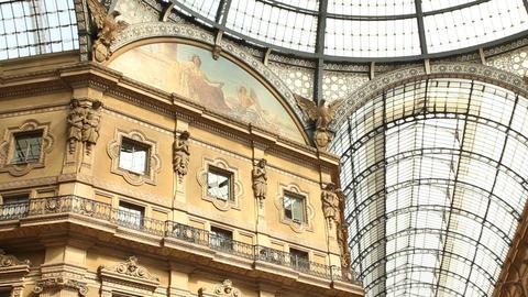 Galleria Vittorio Emanuele in Milan Stock Video Footage