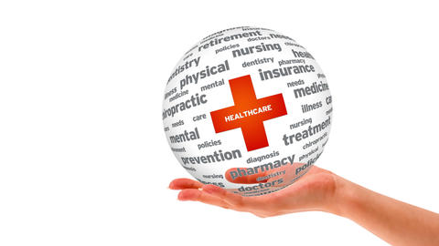 Health Care sphere Stock Video Footage