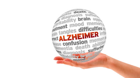 Alzheimer Word Shere Stock Video Footage