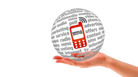 Mobile Marketing Word Sphere Stock Video Footage