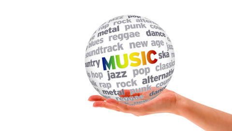 Music Word Sphere stock footage