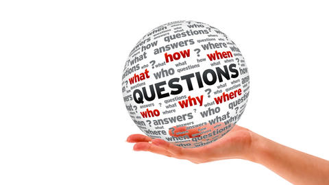 Questions word Sphere Stock Video Footage