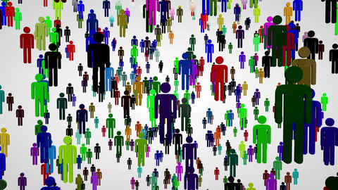 3 D Network Connections Overpopulation Cocncept 5 Stock Video Footage
