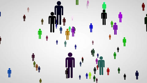 4 K 3 D Network Connections Overpopulation Cocncep Animation