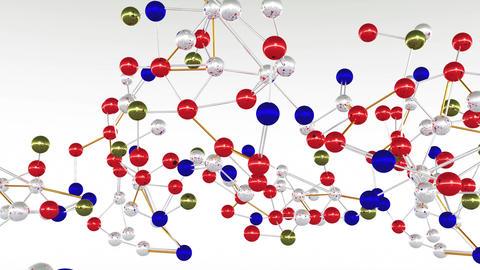 4 K Complex Molecule Structure 1 Stock Video Footage