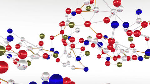 4 K Complex Molecule Structure 1 Animation
