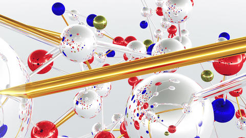 4 K Complex Molecule Structure 3 Animation