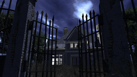 4 K Haunted Scary House 1 Stock Video Footage