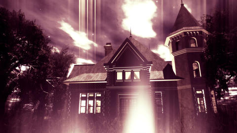 4 K Haunted Scary House 5 Stock Video Footage